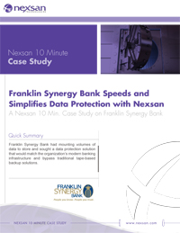 Nexsan_CaseStudy Franklink Synergy Bank Speeds and Simplifies Data Protection