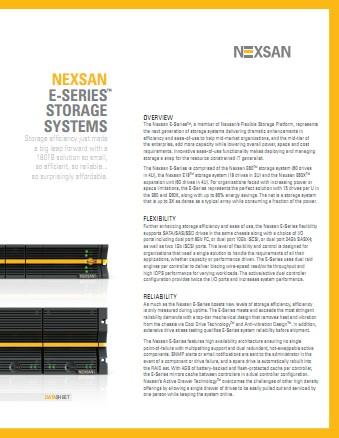 NexSan E60 E18 DataSheet Thumb NexSan E60