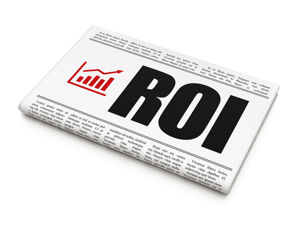 ROI Storage Backup icon with newspaper Med Home
