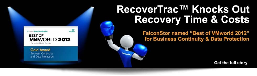 FalconStor_VMworld_RecoverTrac_Disaster_Recovery_Automation_Award_2012